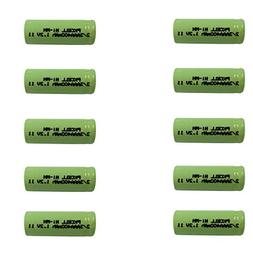 10Pcs Rechargeable 2/3AAA ni-mh Battery 1.2v 400mah Flat top