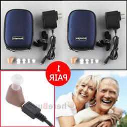 2x Rechargeable Acousticon Digital Mini In Ear Hearing Aid A