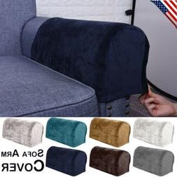 Removable Stretch Sofa Arm Rest Covers Armchair Couch Arm Sl