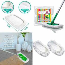 Reusable 100% Cotton Mop Pads Compatible Swiffer Sweeper 2 P