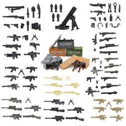 Single Sale Weapon Pack Box Military Set Parts Minifig Gun S