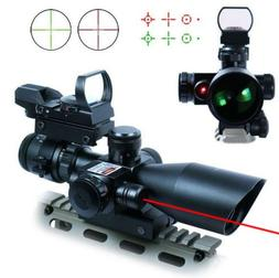 UUQ 2.5-10x40 Tactical Rifle Scope Dual Illuminated Mil-dot