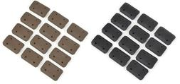 Tactical Type 2 M-lok Rail Covers - 12 pack