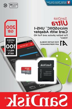 SanDisk Ultra 200GB microSDXC UHS-I card with Adapter -100
