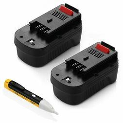 Powerextra Upgraded 2 Pack 3700mAh 18Volt HPB18 Replacement