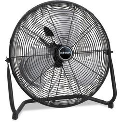 "Patton High Velocity Fan, Three-Speed, Black, 8.58""W x 22.83"